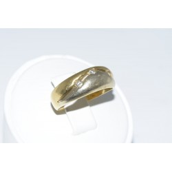 Anillo oro bicolor de 18k con diamantes