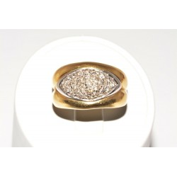 Anillo en oro bicolor 18k con diamantes